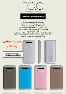 F.O.C Backup Battery ( Power Bank)