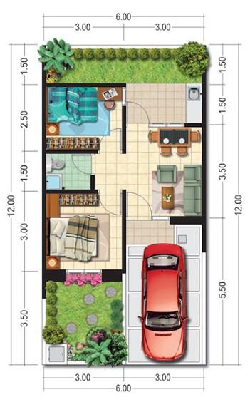 30 Denah Rumah Minimalis Type 36 Rumahku Unik Berikut 2