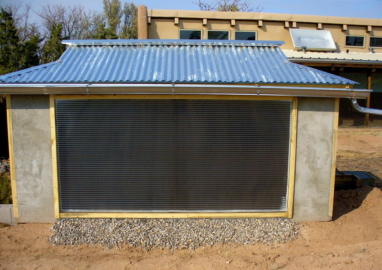 Alt. Build Blog: Building A Well House #9: Trombe Wall ...