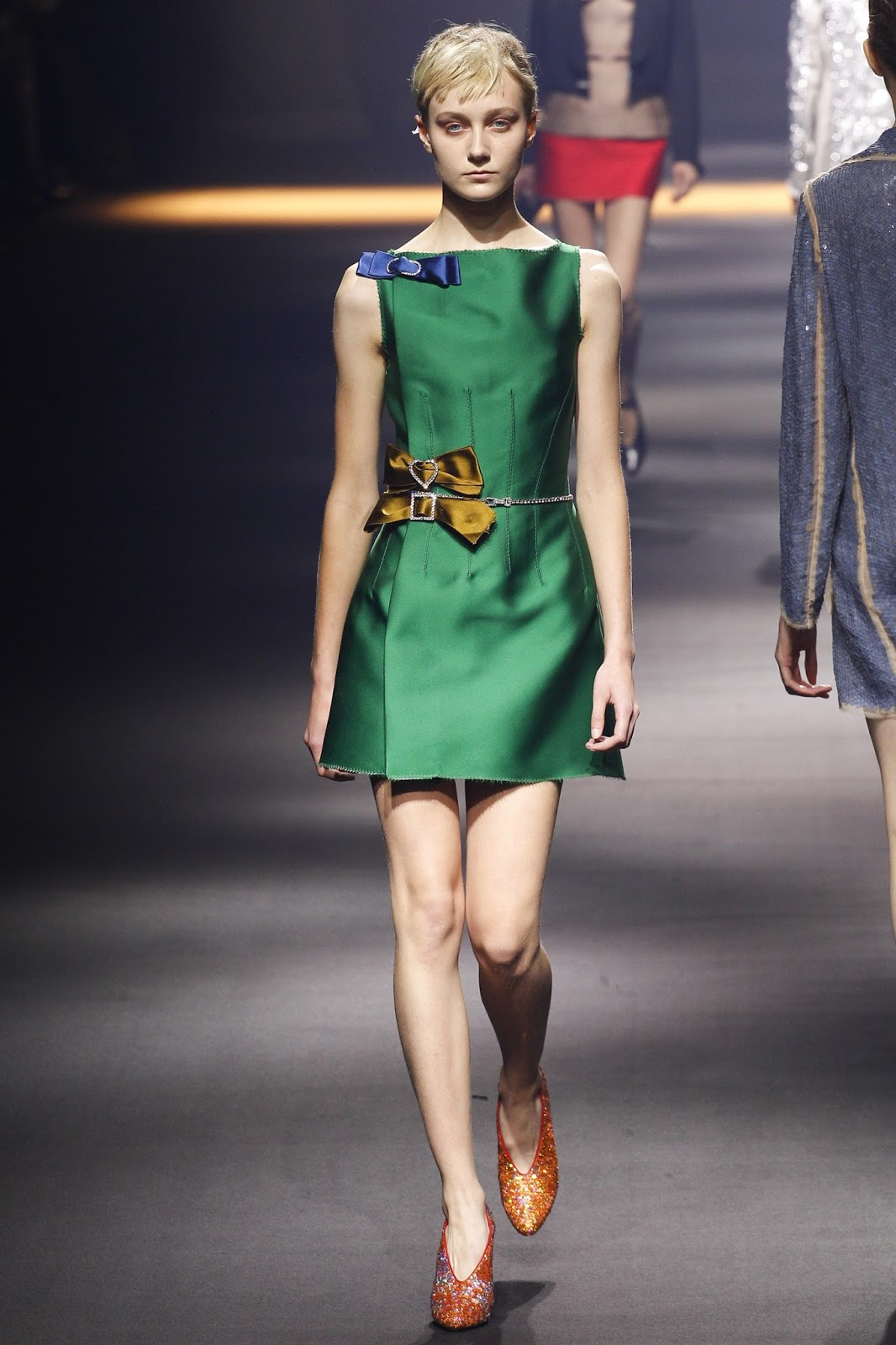 Pantone colour report & spring summer 2016 fashion trends / green flash at Lanvin Spring/Summer 2016 via www.fashionedbylove.co.uk British fashion & style blog