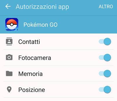 autorizzazioni app