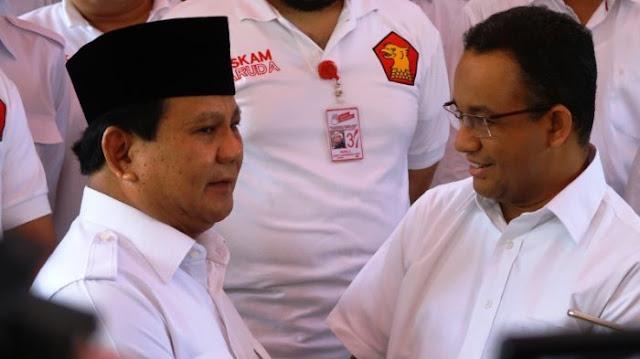 Survei Terbaru, Prabowo - Anies Bisa Hadang Jokowi di Pemilu 2019, Ini Hitungannya...