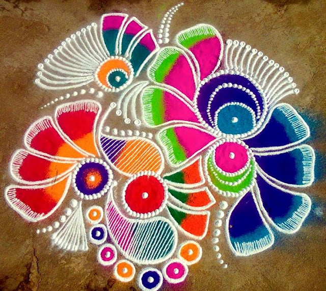 Latest Rangoli Patterns and Designs for Diwali 2017