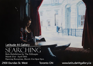 "Solo Exhibition ""Searching"" by Tia Gillespie at Latitude 44 in Toronto"
