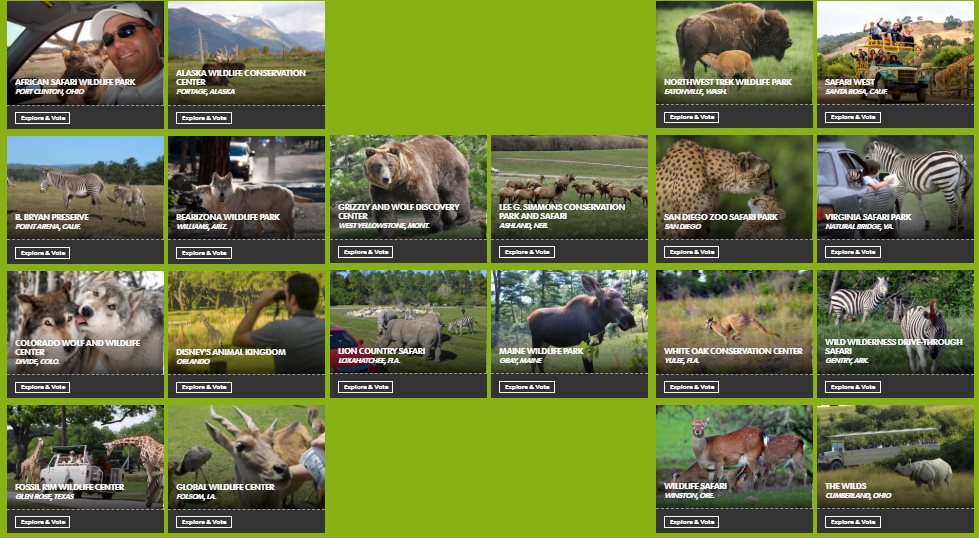 The Zoo Review: Vote for North America's Best Wildlife Park
