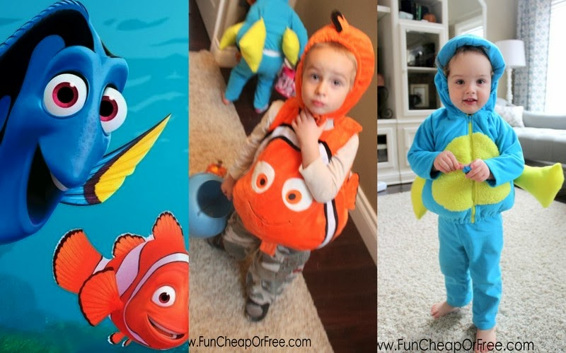 DIY Finding Nemo Costumes! Plus the 6 tricks to getting Halloween costumes for dirt cheap.  sc 1 st  Fun Cheap or Free & DIY Finding Nemo Costumes! Plus the 6 tricks to getting Halloween ...