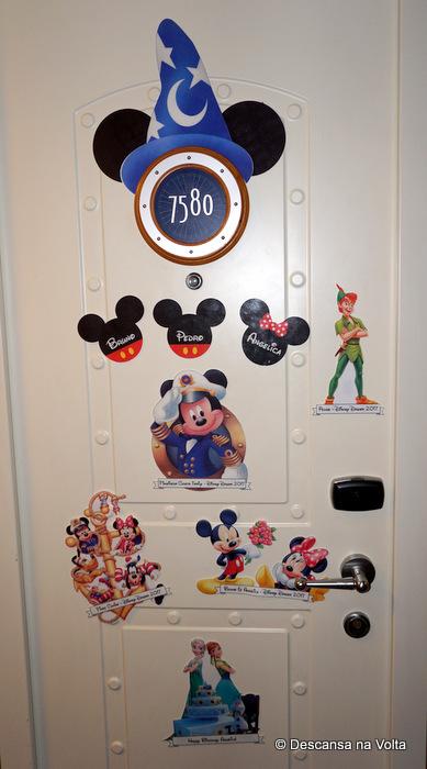 Enfeites de porta Cruzeiro da Disney