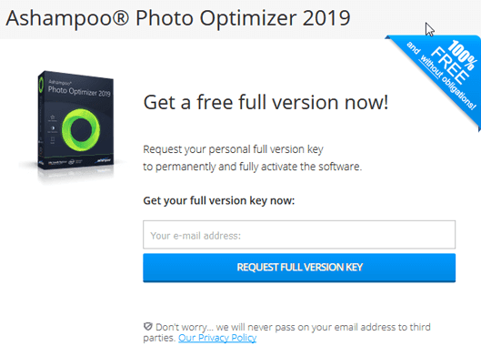 Ashampoo Photo Optimizer 2019 License Key Full Giveaway
