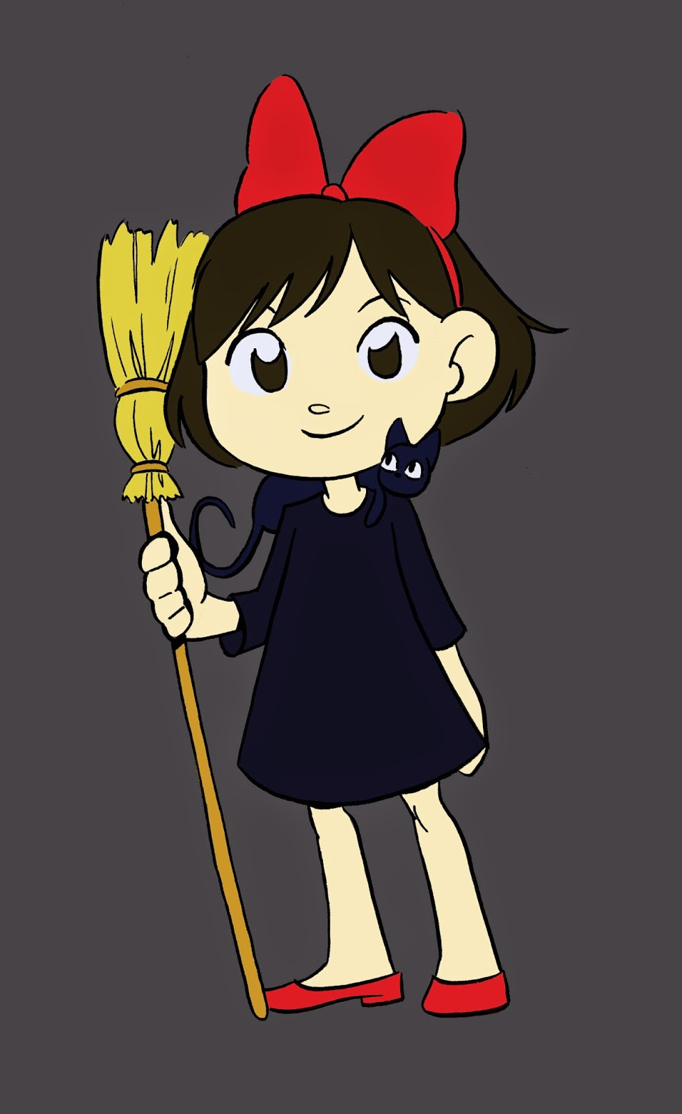 Kiki, Kiki and Jiji, Studio Ghibli, Cute witch, Becca Hillburn, Nattosoup