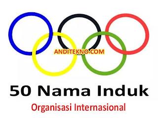 50 Induk Organisasi Olahraga Internasional