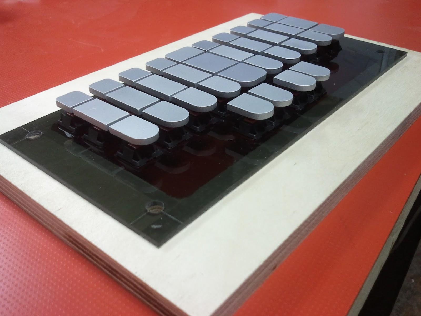 Stenosaurus stenography keyboard prototype - deskthority