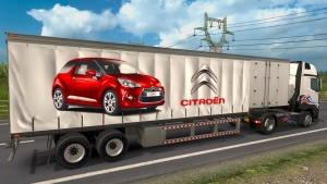 Citroen curtain trailer mod