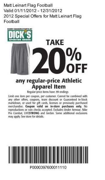 New printable dick s sporting goods coupon