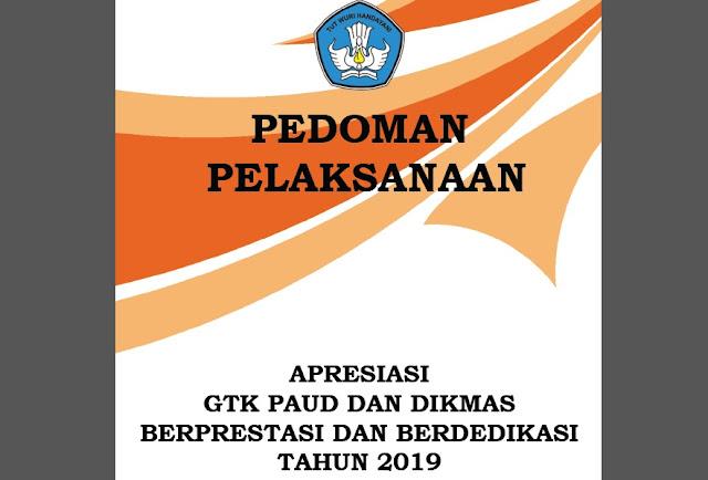 Download Buku Pedoman Pelaksanaan Apresiasi GTK PAUD dan Dikmas Berprestasi dan Berdedikasi Tahun 2019 Pdf