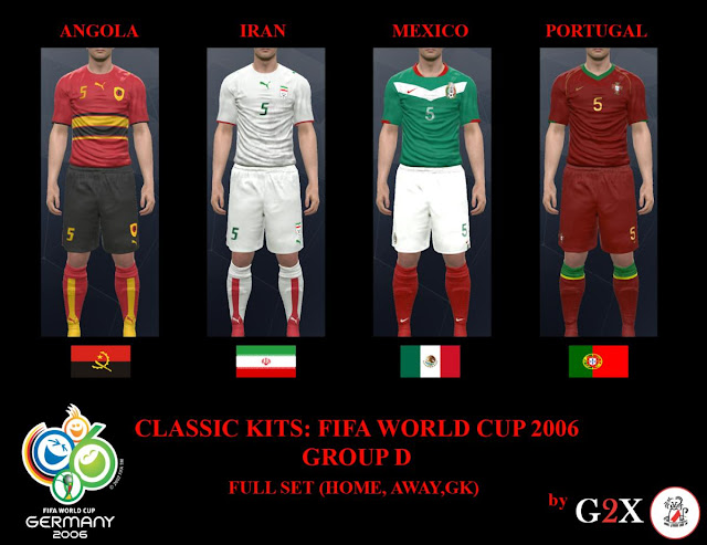 PES 2017 FIFA World Cup 2006 Group D Kits. CREDITS  G2X 5b13e2158
