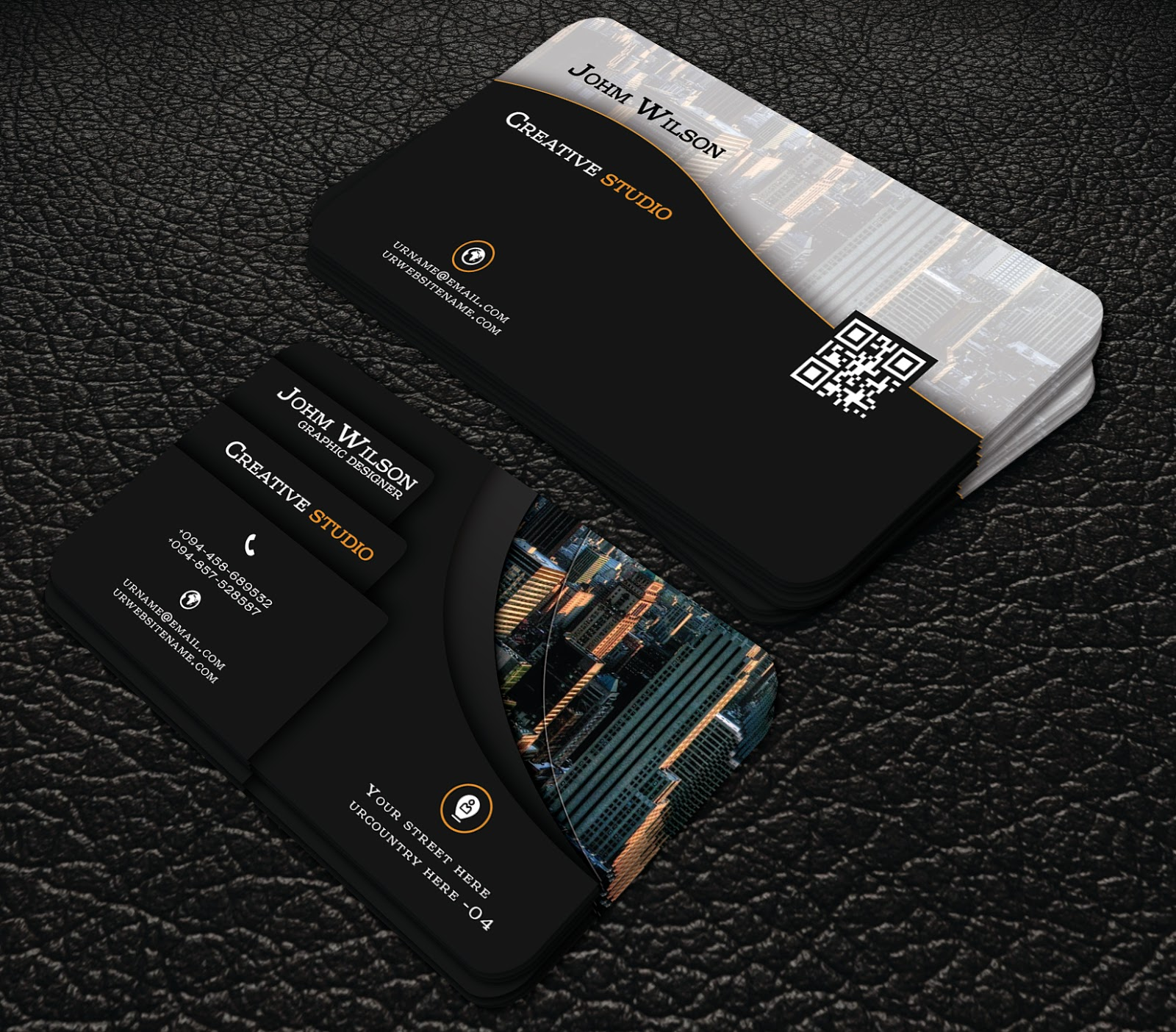 black colour professional free business cards | professional ...