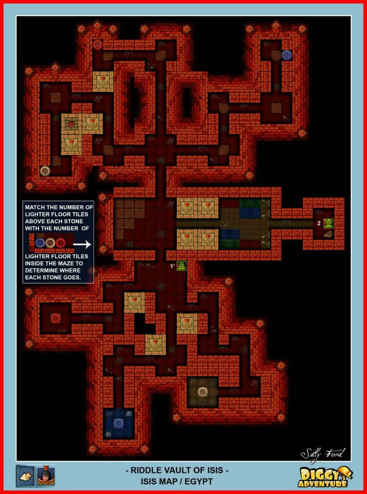Diggy's Adventure Walkthrough: Egypt Isis / Riddle Vault of Isis
