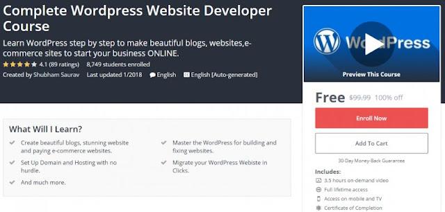 [100% Off] Complete Wordpress Website Developer Course| Worth 99,99$