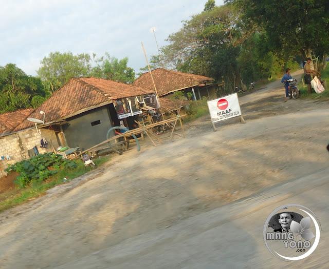 Jalan Cikaum ke Pagaden Barat, Subang di Cor Beton