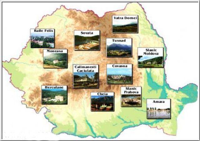 Harta statiuni balneare Romania