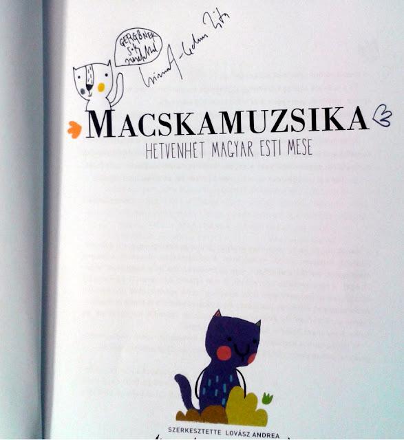 Budapest, Vörösmarty tér, 89. Ünnepi Könyvhét, 2018. június 9., A Macskamuzsika, 77 magyar esti mese című kötetben Kismarty-Lechner Zita rajza.