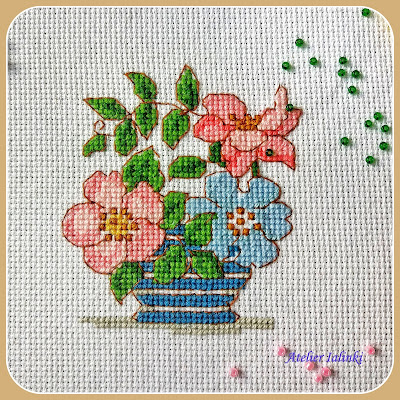 cross stitch gold crossstitch вышивка цветов