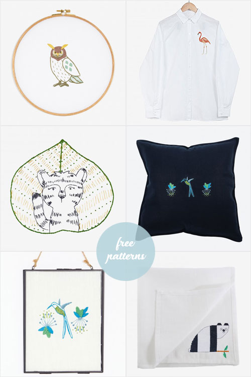 My Owl Barn Free Embroidery Patterns To Make Custom Projects