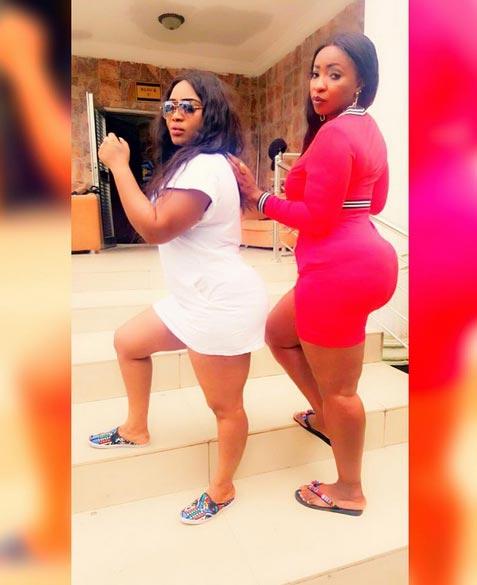 "Booty queens: Halima Abubakar and Anita Joseph flaunt ""heavy duty"" on movie set"