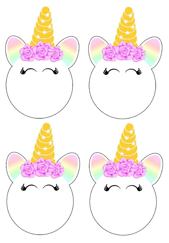 photo about Printable Faces named Unicorn Faces: No cost Printable Toppers, Labels and Even further. - Oh