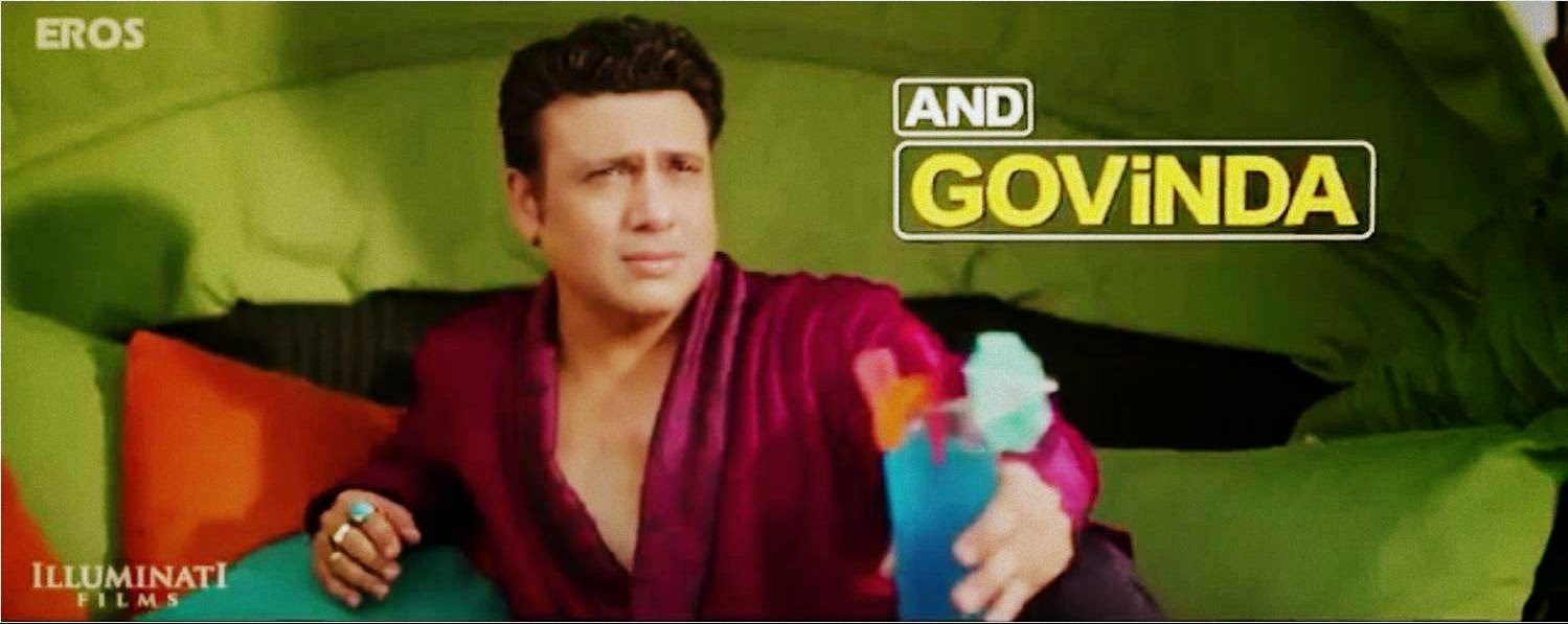Govinda as a fading actor Armaan in Bollywood movie Happy Ending