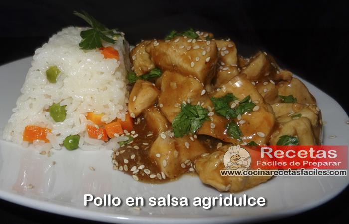 Pollo en salsa agridulce,  una receta con pollo exquisita , ideal si te gusta la comida agridulce , disfrútala y recomiendala.