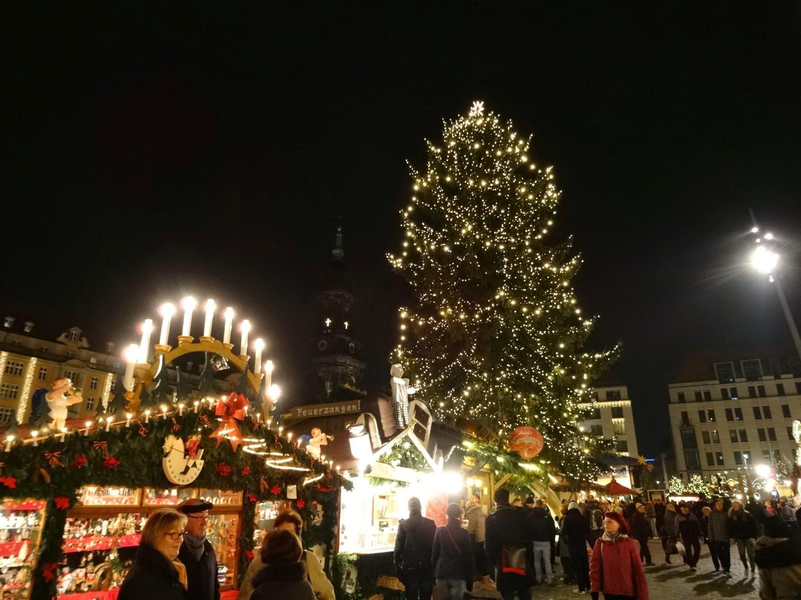 Christmas Tree on the Altmarkt in Dresden