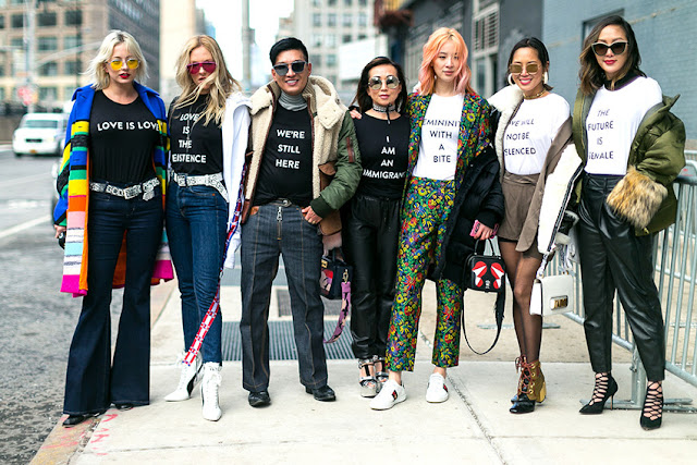 trend new york fashion week 2017 nyfw fashion's obsessions zairadurso zaira d'urso fashion blog fashion blogger italia sicilia catania instagram zairadurso how to wear vitamin color sporty chic ideas messaggi politici sulle t-shirt idee su come indossare i trend fashion trend how to wear trend