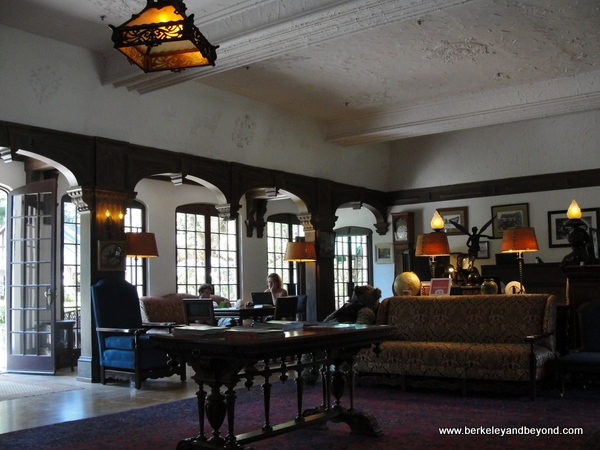 lobby lounge at Benbow Historic Inn in Garberville, California