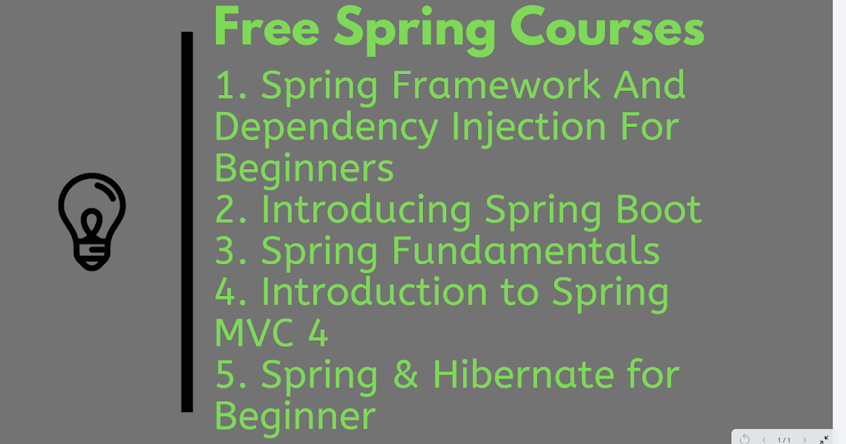 Top 5 Free Core Spring, Spring MVC, and Spring Boot Courses