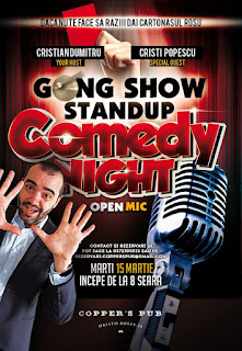 Stand-up Comedy marti 15 Martie Bucuresti Gong edition