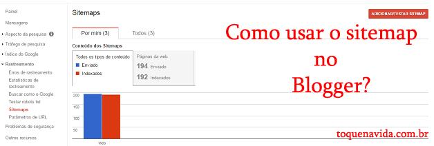 Quer saber como usar o Sitemap no Blogger?