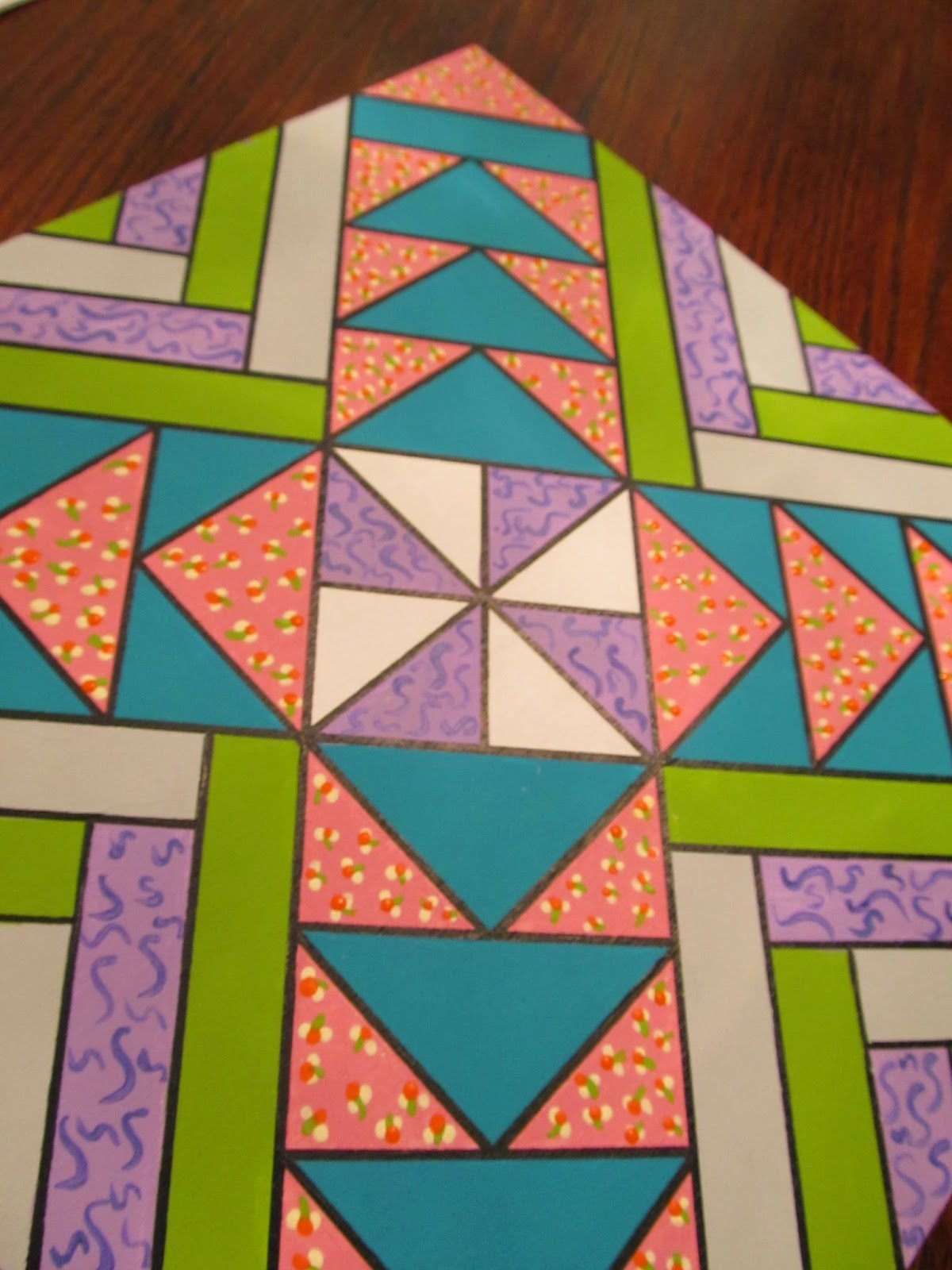 painting a smaller barn quilt