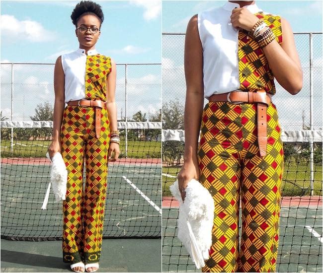 modern ankara two 2 piece outfit