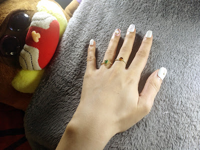 feminine white and pink acrylic nails from lazada