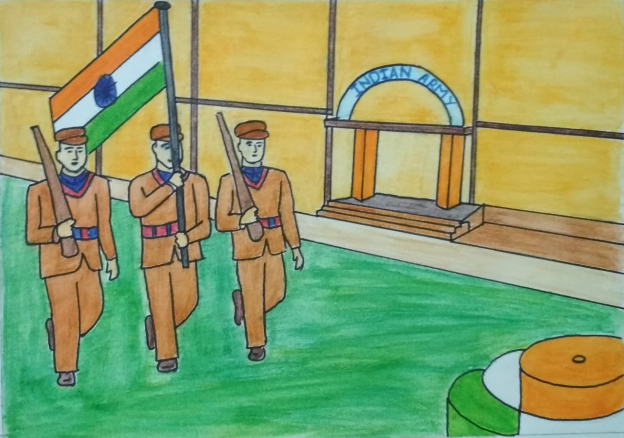 Independence day drawing for your school projects