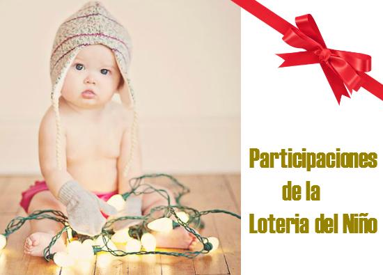 Plantillas para Imprimir: Participaciones de la Loteria del Niño