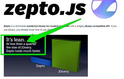 Zepto claims it is less than a quarter the size of jQuery.
