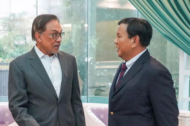 Prabowo Bertemu Anwar Ibrahim