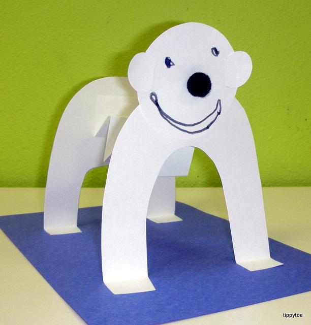 Tippytoe Crafts Standing Polar Bears