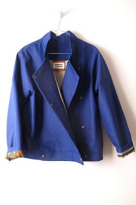 Matières à réflexion veste wax bleu indigo