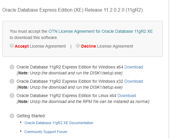oracle database 11g download for linux 32 bit