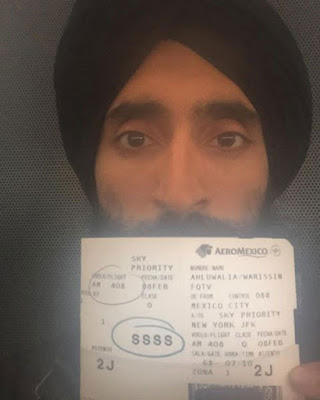 Waris Ahluwalia Barred from US Flight gap fashion week house of waris