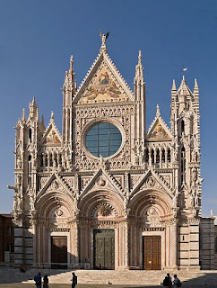 The Piccolomini library adjoins Siena's beautiful cathedral