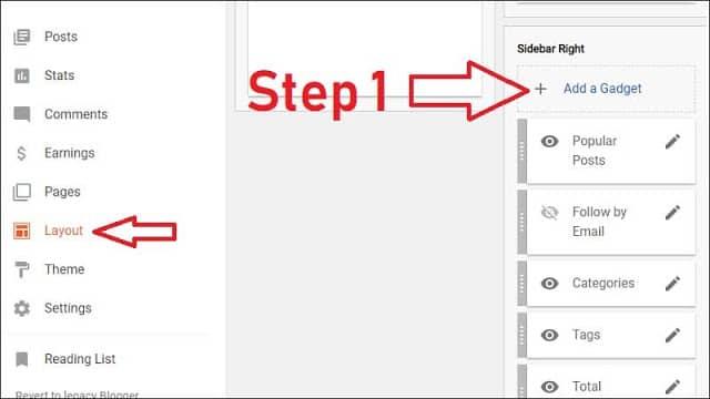स्टेप १: ब्लॉगर ब्लॉग में कॉपी/पेस्ट और राइट क्लिक कैसे बंद करे